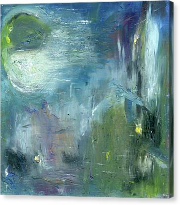 Mid-day Reflection Canvas Print by Michal Mitak Mahgerefteh