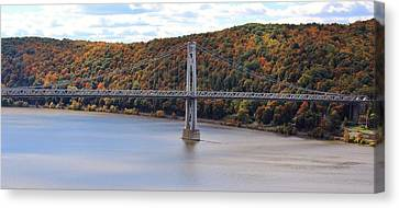 Mid Hudson Bridge In Autumn Canvas Print