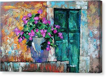 Canvas Print featuring the painting Mid Summer by Anastasija Kraineva