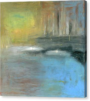 Canvas Print featuring the painting Mid-summer Glow by Michal Mitak Mahgerefteh