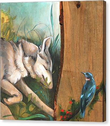 Mid-summers Day Dream 3rd Panel Canvas Print by Jacque Hudson