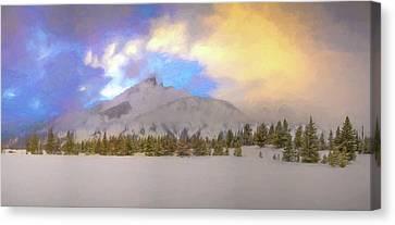 Mid-winter Sunset Canvas Print