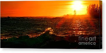 Rocky Maine Coast Canvas Print - Midcoast Maine Sunset by Olivier Le Queinec