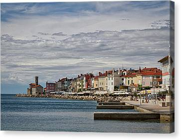 Canvas Print featuring the photograph Midday In Piran - Slovenia by Stuart Litoff