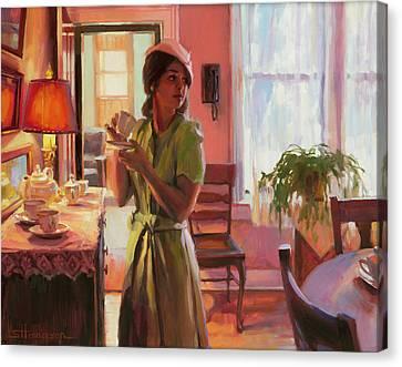Midday Tea Canvas Print by Steve Henderson
