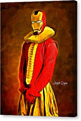 Ironman Canvas Print - Middle Ages Iron Man - Da by Leonardo Digenio