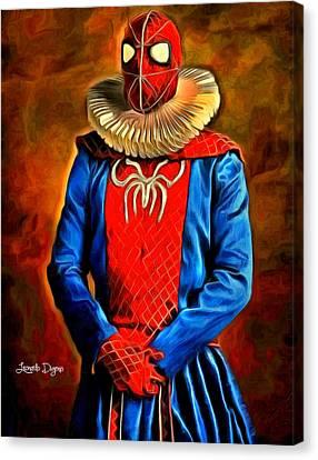 Middle Ages Spider Man Canvas Print by Leonardo Digenio