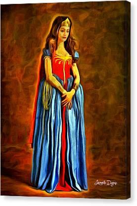 Middle Ages Wonder Woman - Da Canvas Print by Leonardo Digenio