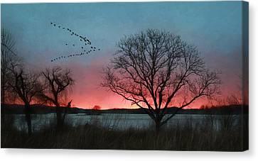 Middle Creek Sunrise 4 Canvas Print by Lori Deiter
