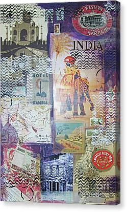 Middle East Canvas Print - Middle East And India by Leigh Banks