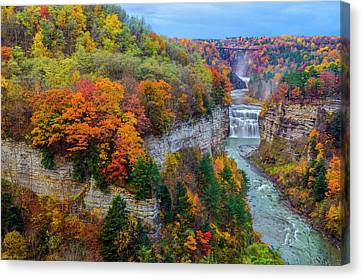 Middle Falls Peak Canvas Print by Mark Papke