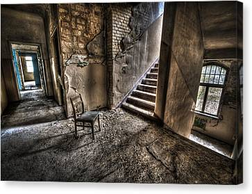 Middle Floor Seating Canvas Print