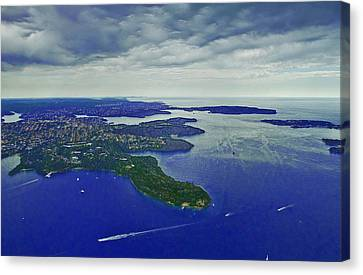 Middle Head And Sydney Harbour Canvas Print