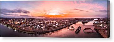 Middletown Connecticut Sunset Canvas Print by Petr Hejl