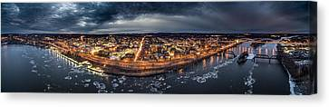 Middletown Ct, Twilight Panorama Canvas Print by Petr Hejl