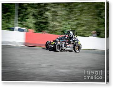 Midget Racing Canvas Print by Wayne Wilton
