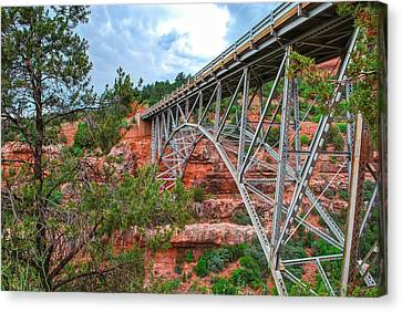 Midgley Bridge Clouds - Sedona Arizona Canvas Print by Gregory Ballos