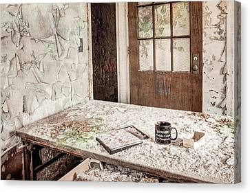Canvas Print featuring the photograph Midlife Crisis In Progress - Abandoned Asylum by Gary Heller