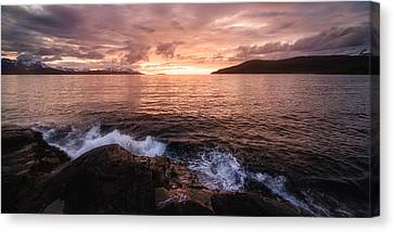 Midnight At Mannes Canvas Print by Tor-Ivar Naess