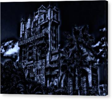 Midnight At The Tower Of Terror Mp Canvas Print by Thomas Woolworth