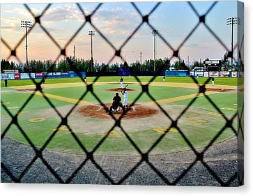 Canvas Print featuring the photograph Midnight Baseball by Benjamin Yeager