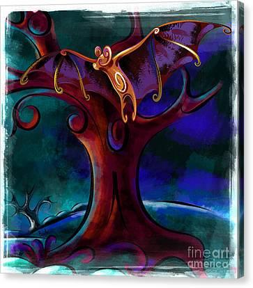 Midnight Bat Canvas Print