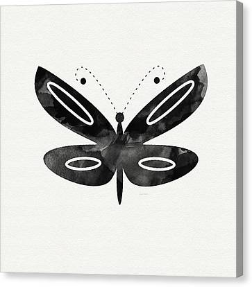 Midnight Butterfly 1- Art By Linda Woods Canvas Print by Linda Woods
