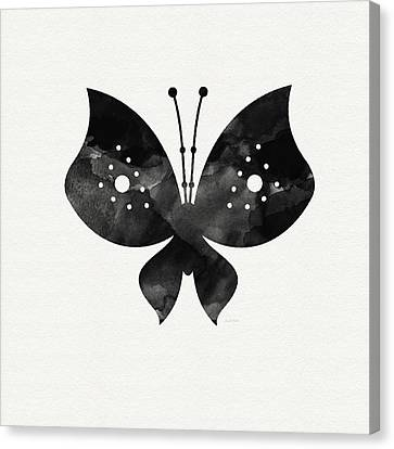 Midnight Butterfly 2- Art By Linda Woods Canvas Print by Linda Woods