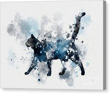 Midnight Cat Canvas Print