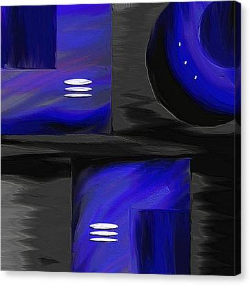 Midnight Canvas Print by Ely Arsha