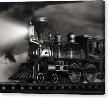 Sepia Tone Canvas Print - Midnight Flyer by Tom Mc Nemar