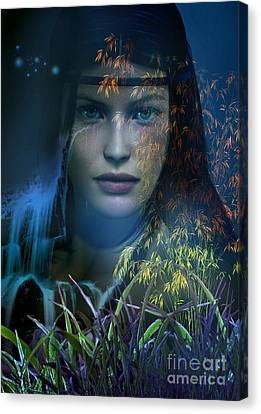 Midnight Gaia Canvas Print by Shadowlea Is
