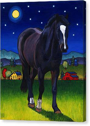 Midnight Horse Canvas Print by Stacey Neumiller