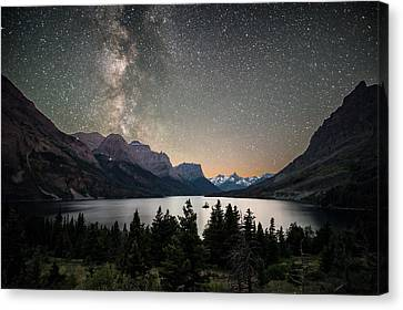 Midnight In Glacier National Park Canvas Print