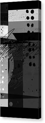 Midnight In The City 2 Triptych Canvas Print