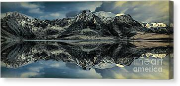 Cwm Idwal Canvas Print - Midnight Lake by Adrian Evans