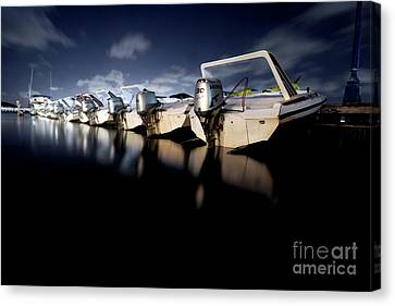Midnight Motors Canvas Print by Mike Lindwasser Photography