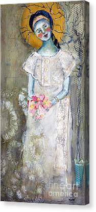 Midnight Muse Canvas Print by Sharon Furner