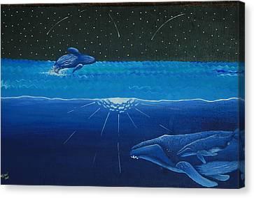 Midnight Canvas Print by Nick Flavin