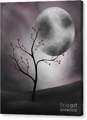 Midnight Peach Canvas Print