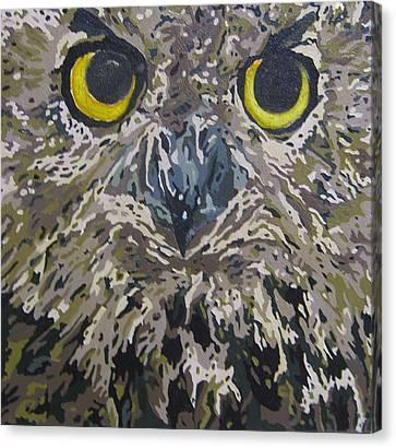 Prowler Canvas Print - Midnight Prowler by Cheryl Bowman