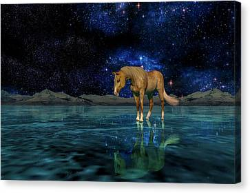 Spiritual Being Canvas Print - Midnight Religion  by Betsy Knapp
