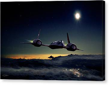 Johnson Canvas Print - Midnight Rider by Peter Chilelli