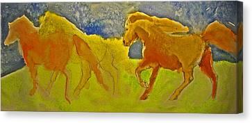 Midnight Run Canvas Print by Linda Kay Thomas
