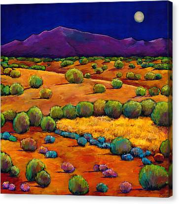 Taos Canvas Print - Midnight Sagebrush by Johnathan Harris