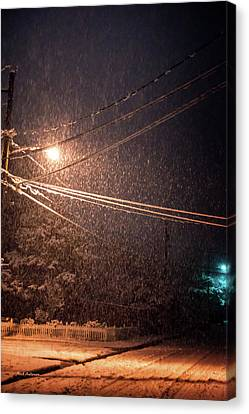 Midnight Snow Canvas Print by Mick Anderson