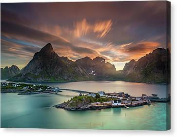 Midnight Sun Galore Canvas Print