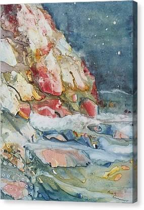 Midnight Surf Canvas Print by Ruth Kamenev