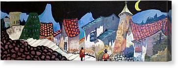 Midnight Walk In Peru Canvas Print