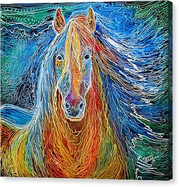 Canvas Print - Midnightsun Equine Batik by Marcia Baldwin